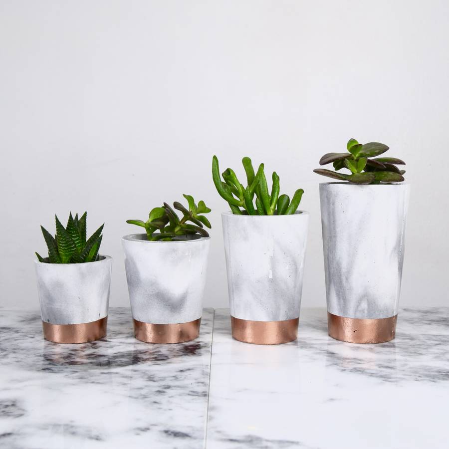 Copper Marble Pots